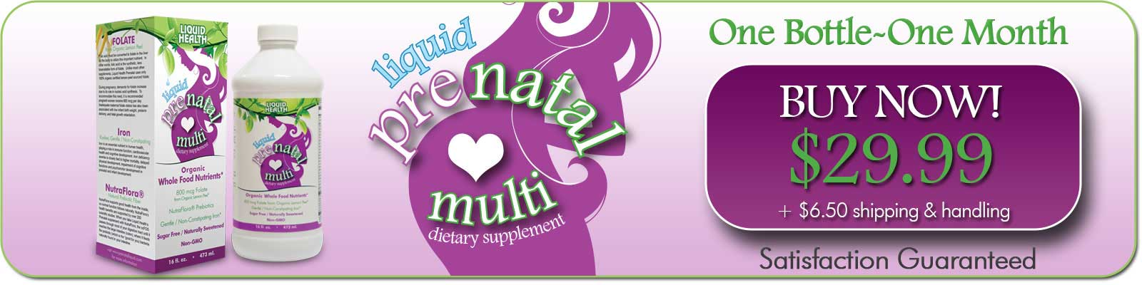 Buy 1 Bottle of Prenatal Vitamins