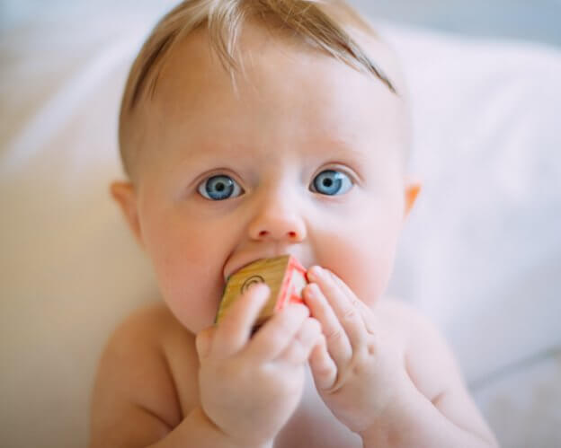 baby chewing alphabet block - signs, symptoms, and remedies for teething